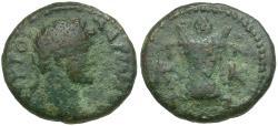 Ancient Coins - Hadrian (AD 117-138). Crete. Koinon Æ16 / Altar