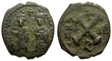 Ancient Coins - Byzantine Empire.  Phocas Æ Decanummium