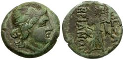 Ancient Coins - Thrace. Mesembria Æ22 / Athena