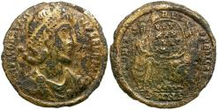 Ancient Coins - Constantius II as Augustus (AD 337-361) Fouree AV Solidus / Two Victories