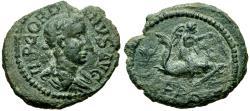 Ancient Coins - Gordian III (AD 238-244). Thrace. Deultum Æ19 / Eros riding Dolphin