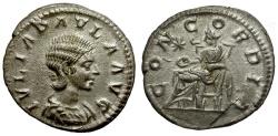 Ancient Coins - Julia Paula AR Denarius / Concordia