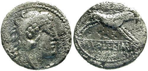 Ancient Coins - 78 BC / F/F Volteia 2 Roman Republic Denarius / Erymanthian Boar