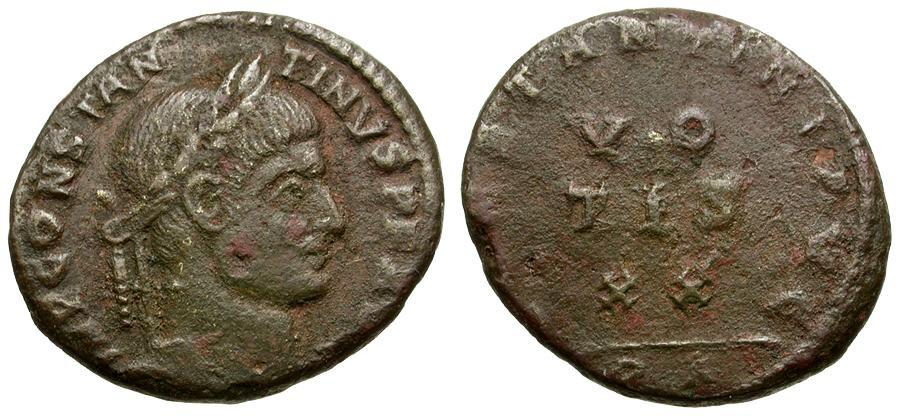 Ancient Coins - Constantine I the Great Æ3 / VOTIS XX