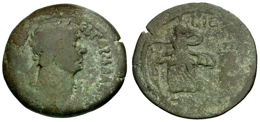 Ancient Coins - Trajan. Egypt. Alexandria Æ33 / Pharos