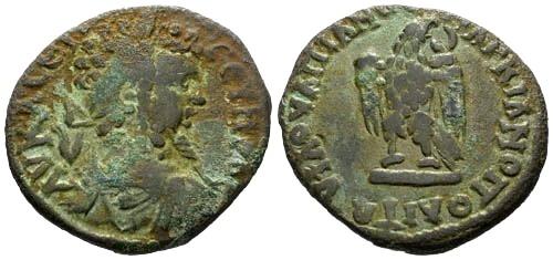 Ancient Coins - F/VF Septimius Severus AE27 Marcianopolis / Eagle