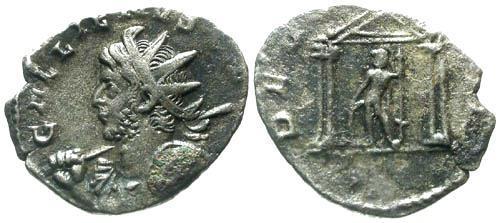 Ancient Coins - VF/F Gallienus Joint Reign AR Antoninianus / Temple