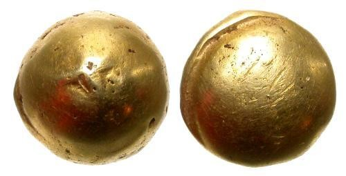 Ancient Coins - EXTREMELY RARE Belgic Bullet Type Gold Stater Senones Tribe