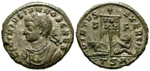 Ancient Coins - gVF/gVF Licinius II AS Caesar AE Full Silvering