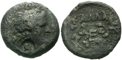 Ancient Coins - F+/F+ Thrace Kallatis AE23 / Ivy and Counterstamp