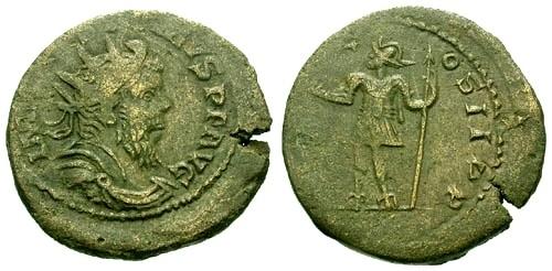Ancient Coins - VF/VF Postumus AE As / Emperor standing