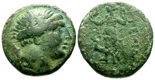 Ancient Coins - VF/F Pamphylia Perga AE20 / Artemis