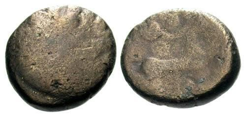 Ancient Coins - F Remi Tribe Electrum 1/4 Stater / Scarce