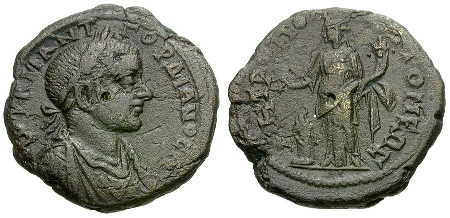 Ancient Coins - Gordian III. Moesia. Tomis Æ26 / Homonoia