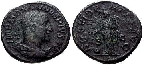 Ancient Coins - gF+/gF Maximinus I AE Sestertius / Providentia
