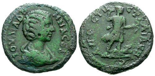 Ancient Coins - VF/aVF Julia Domna AE24 Augusta Trajana / Patina