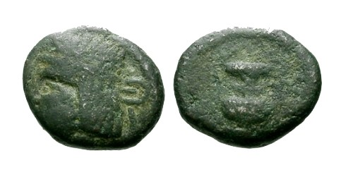 Ancient Coins - VF/VF Kings of Parthia Pacorus II AE Dichalkon / Amphora