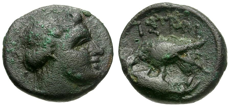 Ancient Coins - Moesia Inferior.  Istros Æ12 / Apollo