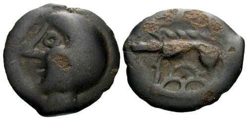 Ancient Coins - VF/VF Leuci Tribe / Bald Head Potin