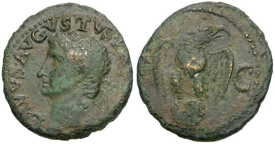 Ancient Coins - Divus Augustus (died AD 14). Struck under Tiberius Æ AS / Eagle