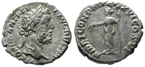 Ancient Coins - VF/aVF Commodus AR Denarius / FIDEI COH