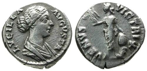 Ancient Coins - VF/aVF Lucilla AR Denarius / Venus