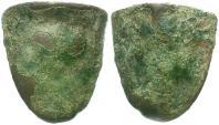 Ancient Coins - Sicily. Akragas. Cast Tooth Æ Tetras