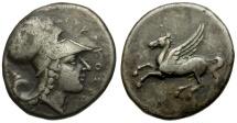 Ancient Coins - Sicily.  Syracuse. Third Democracy. Time of Timoleon AR Stater / Pegasus
