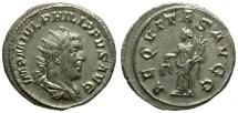 Ancient Coins - Philip I AR Antoninianus / Aequitas