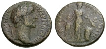 Ancient Coins - Antoninus Pius Æ AS / Annona