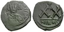 Ancient Coins - Byzantine Empire.  Tiberius II Constantine Æ Half Follis