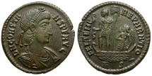 Ancient Coins - Constans Æ Centenionalis / Constans and Victory in Galley