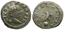 Divus Septimius Severus AR Denarius / Eagle on Globe