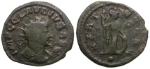 Ancient Coins - Claudius Gothicus Æ Antoninianus / • in exergue