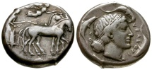 Sicily Syracuse Second Democracy AR Tetradrachm