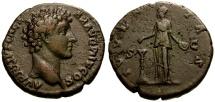 Ancient Coins - VF/VF Marcus Aurelius as Caesar Æ Dupondius / Juventas