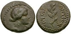 Ancient Coins - Time of Nero. Antioch. Pseudo-autonomous Æ16 / Laurel Branch