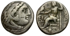 Ancient Coins - Kings of Macedon. Alexander III The Great AR Drachm / Zeus Enthroned
