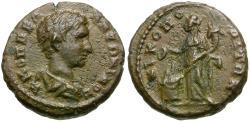 Ancient Coins - Diadumenian as Caesar (AD 217-218). Moesia Inferior. Nicopolis ad Istrum Æ16 / Homonia