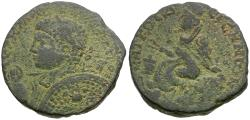 Ancient Coins - Elagabalus (AD 218-222). Mesopotamia. Edessa Æ24 / Tyche