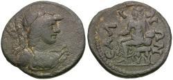 Ancient Coins - Lydia. Sala. Pseudo-autonomous Æ19 / Kybele