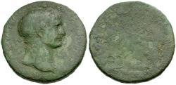 Ancient Coins - Trajan Æ Sestertius / Danube Bridge