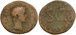 Ancient Coins - Tiberius as Caesar Æ AS / SC