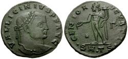 Ancient Coins - Licinius I Æ Follis / Genius