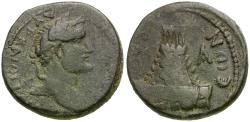 Ancient Coins - Antoninus Pius (AD 138-161). Commagene. Zeugma Æ22 / Temple with Sacred Grove