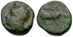 Ancient Coins - Macedon. Aineia Æ15 / Aineias