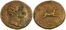 Ancient Coins - Hadrian (AD 117-138) Æ Dupondius / Pegasus