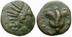 Ancient Coins - Caria. Rhodes Æ11 / Rose