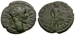 Ancient Coins - Septimius Severus. Moesia Inferior. Nikopolis ad Istrum Æ16 / Herakles