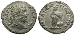 Ancient Coins - Septimius Severus AR Denarius / Africa